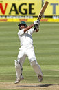 Asad Shafiq hits out, South Africa v Pakistan, 2nd Test, Cape Town, 1st day, February 14, 2013