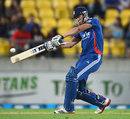 Alex Hales peppered the stands over the leg side, New Zealand v England, 3rd T20, Wellington, February 15, 2013