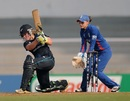Frances Mackay drives one down the ground, England v New Zealand, Women's World Cup 2013, 3rd place play-off, Mumbai, February 15, 2013