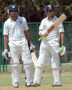 Rohit Sharma and Gautam Gambhir put on 128 runs for the second wicket, India A v Australians, Tour game, Day 1, Chennai, February 16 2013