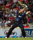 An injured Martin Guptill returned to play a matchwinning hand, New Zealand v England, 1st ODI, Hamilton, February 17, 2013