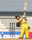 Australia opener Meg Lanning drives during her innings of 31, Australia v West Indies, Women's World Cup final, Mumbai, February 17, 2013