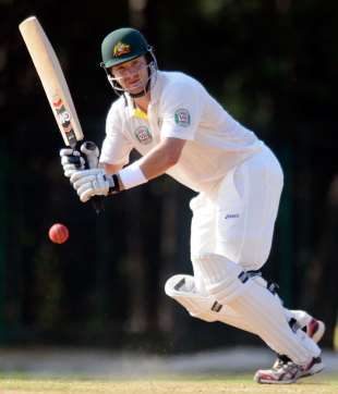 Shane Watson flicks through the on side during his 84, India A v Australians, Tour game, 2nd Day, Chennai, February 17, 2013
