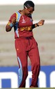 Natasha McLean breaks into a dance after a dismissal