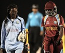 Kyshona Knight retired hurt on 6, Australia v West Indies, Final, Women's World Cup 2013, Mumbai, February 17, 2013