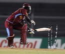Deandra Dottin looks behind to see she's bowled, Australia v West Indies, Final, Women's World Cup 2013, Mumbai, February 17, 2013