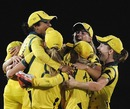 Australians celebrate their World Cup triumph, Australia v West Indies, Final, Women's World Cup 2013, Mumbai, February 17, 2013