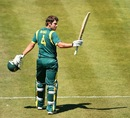 Joe Burns reaches his century, Australia A v England Lions, Hobart, February 18, 2013