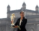 Lisa Sthalekar with the World Cup trophy