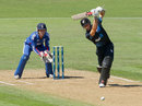 Kane Williamson drives during his innings of 33, New Zealand v England, 2nd ODI, Napier, February 20, 2013