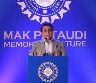 Sunil Gavaskar speaking at the MAK Pataudi Memorial Lecture, Chennai, February 20, 2013