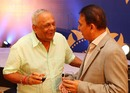 EAS Prasanna and Sunil Gavaskar at the MAK Pataudi Memorial Lecture