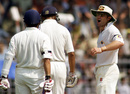 Michael Slater lashes out at Sachin Tendulkar and Rahul Dravid after a catch he claimed was not awarded, India v Australia, first Test, Mumbai, 1 March, 2001