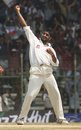 Harbhajan Singh celebrates Colin Miller's wicket, India v Australia, 3rd Test, Chennai, 5th day, March 22, 2001