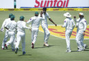 Ehsan Adil took a wicket in his first over in Test cricket, South Africa v Pakistan, 3rd Test, Centurion, 1st day, February 22, 2013