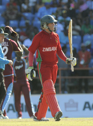 Malcolm Waller top-scored with 51 for Zimbabwe, West Indies v Zimbabwe, 1st ODI, Grenada, February 22, 2013