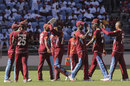 West Indies celebrate a wicket on their way to a comprehensive win