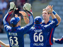 Steven Finn claimed the first wicket of the day