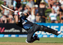 Brendon McCullum goes horizontal