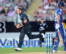 Tim Southee celebrates after removing Alastair Cook