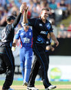 Andrew Ellis took two wickets, New Zealand v England, 3rd ODI, Auckland, February 23, 2013