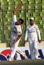 Central Zone's Taskin Ahmed in his delivery stride