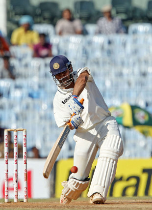 MS Dhoni launches one for six, India v Australia, 1st Test, Chennai, 3rd day, February 24, 2013