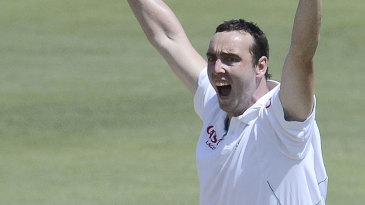 Kyle Abbott was named Man of the Match on debut