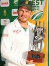 Graeme Smith with the winners trophy, South Africa v Pakistan, 3rd Test, Centurion, 3rd day, February 24, 2013