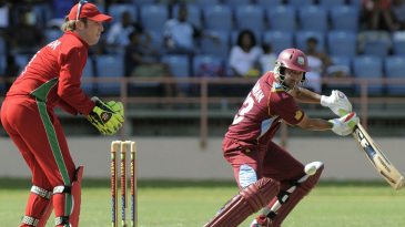 Ramnaresh Sarwan guides one towards third man