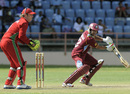 Ramnaresh Sarwan guides one towards third man, West Indies v Zimbabwe, 2nd ODI, Grenada, February 24, 2013