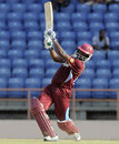 Narsingh Deonarine added 108 for the third wicket with Ramnaresh Sarwan, West Indies v Zimbabwe, 2nd ODI, Grenada, February 24, 2013