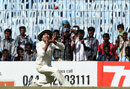 Sachin Tendulkar lines up to take the catch that dismissed Mitchell Starc