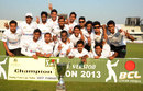The victorious Central Zone team poses after winning the BCL final against North Zone in Mirpur