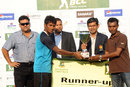 North zone captain Jahural Islam accepts the runners-up trophy