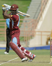 Darren Bravo hits out through the off side , West Indies v Zimbabwe, 3rd ODI, Grenada, February 26, 2013