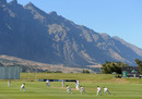 Picture perfect: the stunning backdrop to England's warm-up match, New Zealand XI v England XI, Tour match, Queenstown, 1st day, February 27, 2013