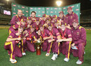 Queensland with the Ryobi Cup, after beating Victoria in the final, Victoria v Queensland, Ryobi Cup Final, Melbourne, February 27, 2013