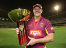 Queensland captain James Hopes with the Ryobi Cup, Victoria v Queensland, Ryobi Cup Final, Melbourne, February 27, 2013