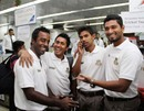 Elias Sunny, Mohammad Ashraful, Marshall Ayub and Mahmudullah before departing for Sri Lanka, Dhaka, February 28, 2013