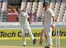 Bhuvneshwar Kumar bowled David Warner for his maiden Test wicket