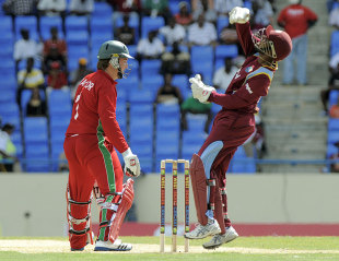 Brendan Taylor is caught behind by Denesh Ramdin, West Indies v Zimbabwe, 1st T20, Antigua, March 2, 2013