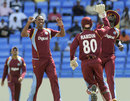 Samuel Badree celebrates a wicket, West Indies v Zimbabwe, 1st T20, Antigua, March 2, 2013