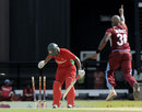 Tino Best cleans up Chamu Chibhabha, West Indies v Zimbabwe, 1st T20I, North Sound, March 2, 2013