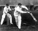 Tuppy Owen-Smith bats in the nets with Jock Cameron keeping behind the stumps, Lord's, April 27, 1929