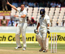 James Pattinson had Sachin Tendulkar caught behind for 7, India v Australia, 2nd Test, Hyderabad, 3rd day, March 4, 2013