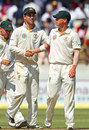 Glenn Maxwell and Xavier Doherty shared seven wickets between them, India v Australia, 2nd Test, Hyderabad, 3rd day, March 4, 2013