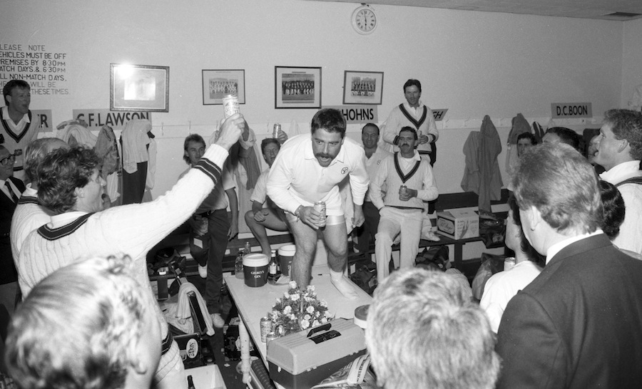 David Boon singing in the dressing-room | Photo | Global ...