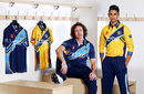 Ryan Sidebottom and Moin Ashraf pose in Yorkshire's new kit, March 6, 2013