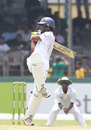 Devin Jayasinghe pulls during his 74, S. Thomas' College v Royal College, Colombo, 1st Day, March 7, 2013